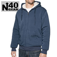 North 40 Men's Navy Sherpa Lined Hoodie