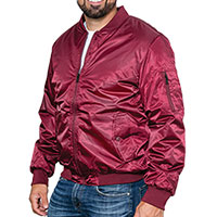 Original Deluxe Men's Burgundy Flight Jacket