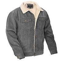 Original Deluxe Men's Gray Sherpa Corduroy Jacket