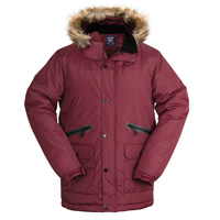 Truppa Men's Burgundy Hooded Heavy Parka
