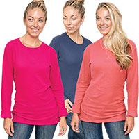 Dickies Ladies Thermal Long Sleeve Shirts - 3 Pack