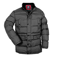 Truppa Men's Black Long Puffer Parka