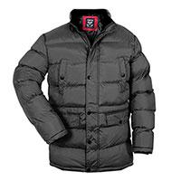 Truppa Men's Black Hooded Parka Coat