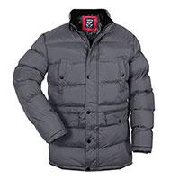 Truppa Men's Grey Hooded Parka Coat