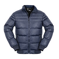 Truppa Men's Navy Puffer Faux Fur Parka Jacket