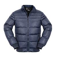 Truppa Men's Navy Puffer Faux Fur Parka Jacket