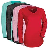 Hanes Women's Long Sleeve V- Neck Shirts