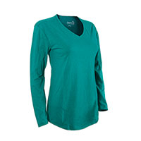 Hanes Women's Emerald Long Sleeve V- Neck Shirt