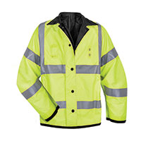 Solar One Yellow & Black Hi-Viz Rain Jacket