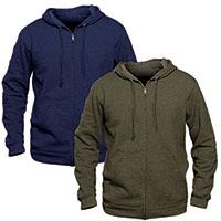Independent Trading Co Men's Navy Lightweight Zip Hoodies