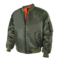 Bravo Men's Olive Flight Jacket