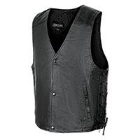 Burks Bay Men's Black Leather Vest
