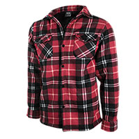 Truppa Men's Red/Black Quilt Lined Plaid Fleece