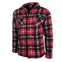 Truppa Men's Red/Black Quilt Lined Plaid Fleece