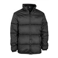 Truppa Men's Black Basic Puffer Parka