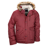 Truppa Men's Burgundy Heavy Hooded Parka