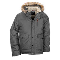 Truppa Men's Gray Heavy Hooded Parka