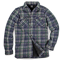 Men's Quilt-Lined Plaid Fleece - Blue/Green