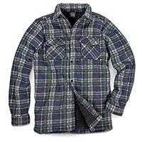 Men's Quilt-Lined Plaid Fleece - Blue/Green