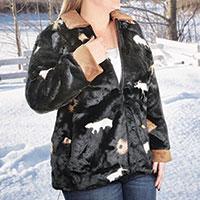 Black Mountain Women's Faux Fur Coat