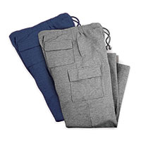BlackCanyon Outfitters Men's Cargo Fleece Sweats - 2 Pack