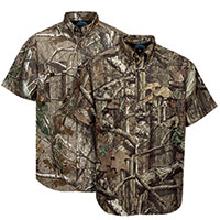 Tri-Mountain Men's Camo Button-Up Shirts - 2 Pack