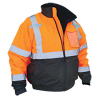 Work Ready Hi-Viz Orange Bomber Jacket