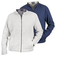 Bruno Men's Navy & White Linen Jackets