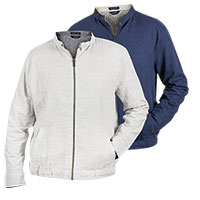 Bruno Men's Navy & White Linen Jackets