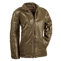 Tudor Court Women's Olive Patch Leather Jacket