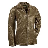 Tudor Court Women's Olive Patch Leather Jacket