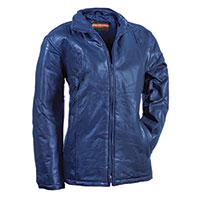 Tudor Court Women's Blue Patch Leather Jacket