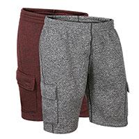 Original Deluxe Men's Grey & Burgandy Fleece Cargo Shorts