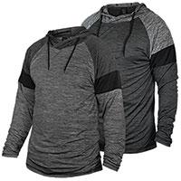 Burnside Men's Grey/Charcoal Hoody - 2 Pack