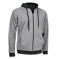 Burnside Men's Grey Sherpa Hoody