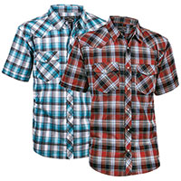 Casual Country Short-Sleeve Plaid Shirts - 2 Pack