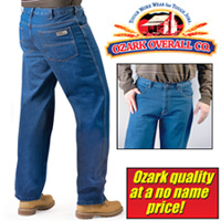 2 Pair Ozark Overall Company Stone-Washed Jeans