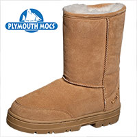 Plymouth Mocs Womens Boot Slippers