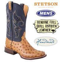 Stetson Full Quill Ostrich Boots