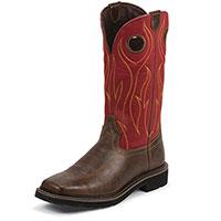 Justin Rustin Men's Brown Barnwood Boots