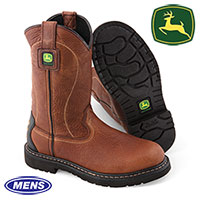 John Deer Mens Brown Pull-On Boots