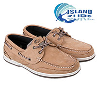Island Surf Men's Brown Boat Shoes