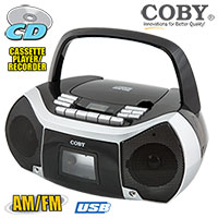 Open Box Coby Boombox Bad CD Player