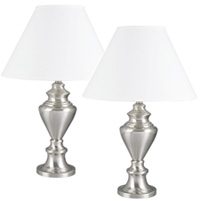 Pair of Metal Table Lamps