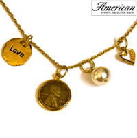 Love & Charms Lincoln Penny Pendant