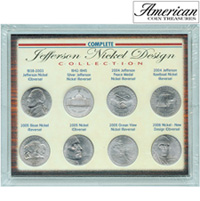Complete Jefferson Nickel Design Collection