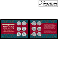 Complete Collection of America's New Nickel Designs in Soft Wallet (BU Condition)