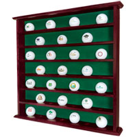 49 Golf Ball Mahogany Wall Cabinet