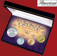 U.S. First Year of Issue Deluxe Dollar Collection