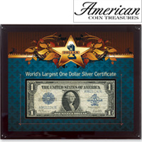 World's Largest Silver Certificate